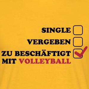 Single, Vergeben, zu beschäftigt mit Volleyball