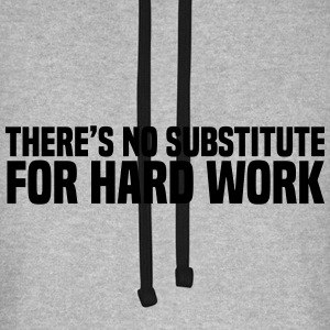 Hard Work Hoodies & Sweatshirts - Unisex Baseball Hoodie