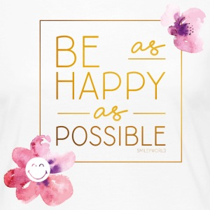 SmileyWorld Be as happy as possible - T-shirt manches longues Premium Femme