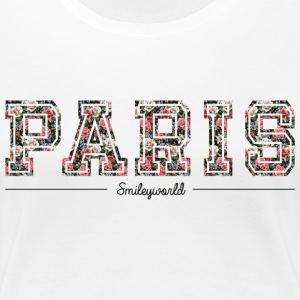 SmileyWorld Paris Lettrage Floral - T-shirt Premium Femme