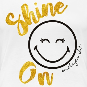 SmileyWorld Always shine on - Premium-T-shirt dam