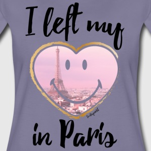 SmileyWorld Left my heart in Paris - Camiseta premium mujer