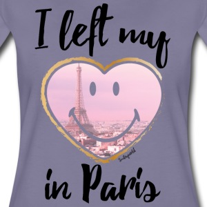 SmileyWorld Left my heart in Paris - Premium T-skjorte for kvinner