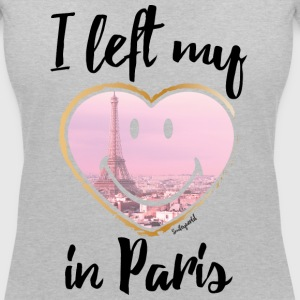 SmileyWorld Left my heart in Paris - Dame-T-shirt med V-udskæring
