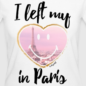 SmileyWorld Left my heart in Paris - Women's Organic T-shirt