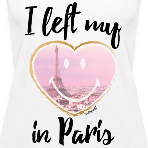 SmileyWorld Left my heart in Paris - Vrouwen Premium tank top