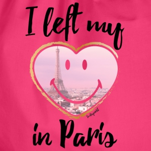 SmileyWorld Left my heart in Paris - Drawstring Bag