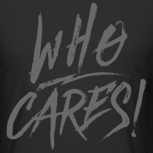 WHO CARES! - Men's Long Body Urban Tee