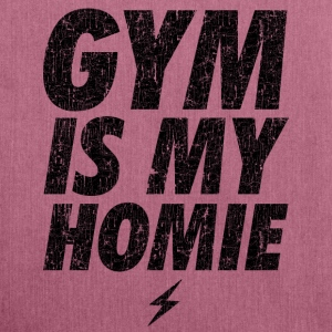 GYM IS MY HOMEBOY Bags & Backpacks - Shoulder Bag made from recycled material
