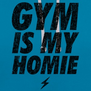 GYM IS MY HOMEBOY Hoodies & Sweatshirts - Contrast Colour Hoodie