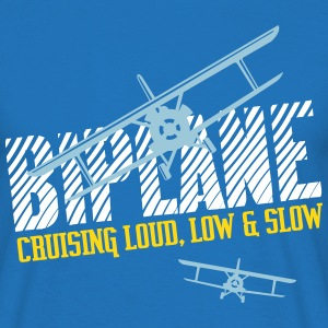 Biplane - Cruising Loud, Low & Slow - Men's T-Shirt