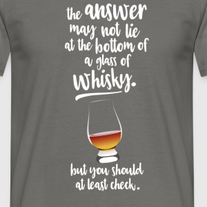 Glass of whisky T-shirts - Herre-T-shirt
