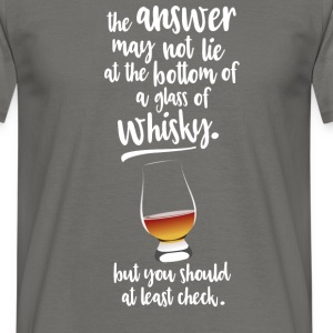 Glass of whisky T-shirts - Mannen T-shirt