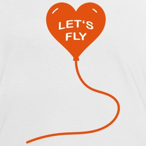 Let's fly - Frauen Kontrast-T-Shirt