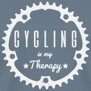 Cycling is my Therapy - Männer Premium T-Shirt