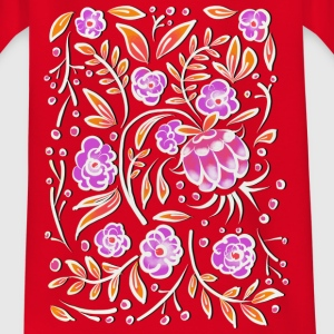 Rosa Floral Ornament T-Shirts - Teenager T-Shirt