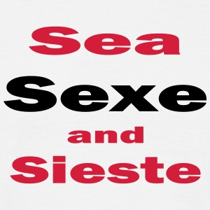 Sea sexe and sieste Tee shirts - T-shirt Homme