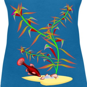 Tropical Fish Swimming - Women's V-Neck T-Shirt