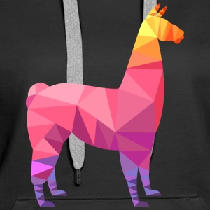 Llama Low Poly | Cool Geometric Design Hoodies & Sweatshirts - Women's Premium Hoodie