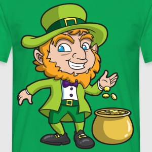 St. Patricks Day leprechaun - Men's T-Shirt