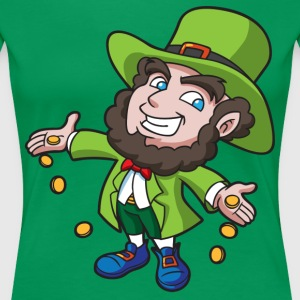 St. Patricks Day leprechaun - Women's Premium T-Shirt