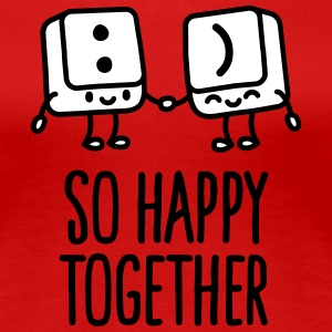 Keyboard keys smiley - So happy together T-shirts - Dame premium T-shirt