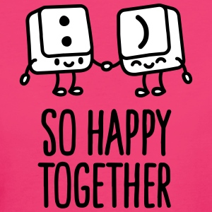 Keyboard keys smiley - So happy together Camisetas - Camiseta ecológica mujer