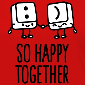 Keyboard keys smiley - So happy together Langærmede T-shirts - Dame premium T-shirt med lange ærmer