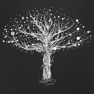 A white tree T-Shirts - Men's V-Neck T-Shirt