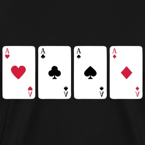 Card Game, Poker, Ace Tee shirts - T-shirt Premium Homme