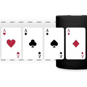Card Game, Poker, Ace Krus & tilbehør - Panoramakrus, farvet