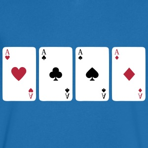 Card Game, Poker, Ace T-Shirts - Men's V-Neck T-Shirt