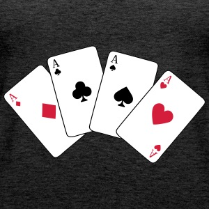 Card Game, Poker, Ace Topy - Tank top damski Premium