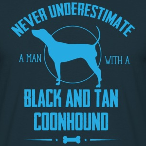 Dog Black and Tan Coonhound NUM T-Shirts - Men's T-Shirt