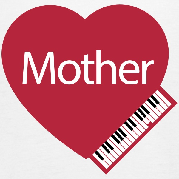 Mother's Day Heart & Piano - Women's Tank Top by Bella