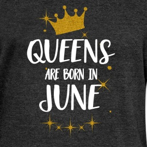 QUEENS ARE BORN IN JUNE Hoodies & Sweatshirts - Women's Boat Neck Long Sleeve Top