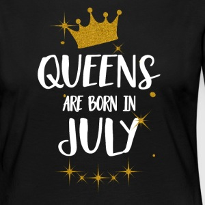 QUEENS ARE BORN IN JULY Long Sleeve Shirts - Women's Premium Longsleeve Shirt