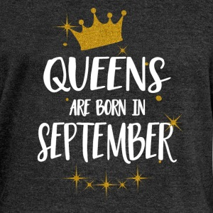 QUEENS ARE BORN IN SEPTEMBER Hoodies & Sweatshirts - Women's Boat Neck Long Sleeve Top