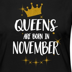 QUEENS ARE BORN IN NOVEMBER Long Sleeve Shirts - Women's Premium Longsleeve Shirt