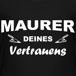 Vertrauens Maurer T-Shirts - Teenager Premium T-Shirt