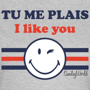 SmileyWorld Tu Me Plais I Like You - Frauen T-Shirt