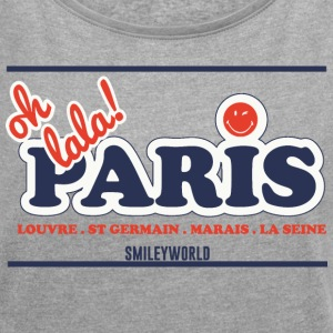 SmileyWorld Oh lala! Paris - Dame T-shirt med rulleærmer