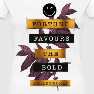 SmileyWorld Fortune Favours - Premium-T-shirt dam