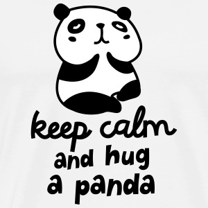Keep Calm And Hug A Panda T-Shirts - Männer Premium T-Shirt