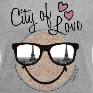 SmileyWorld Paris City Of Love - Frauen T-Shirt mit gerollten Ärmeln