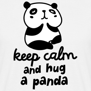 Keep Calm And Hug A Panda T-shirts - T-shirt herr