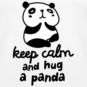 Keep Calm And Hug A Panda Toppar - Premiumtanktopp dam