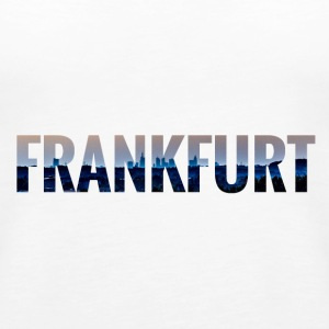 City Skyline Frankfurt Tops - Frauen Premium Tank Top
