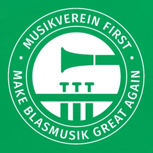 Damen-Shirt MUSIKVEREIN FIRST - MAKE BLASMUSIK GRE - Frauen Kontrast-T-Shirt