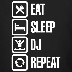 Eat Sleep DJ Repeat Camisetas - Camiseta ecológica hombre